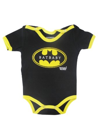 Body Divertido para Bebê Batman Baby Manga Curta