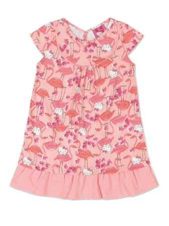 Vestido Flamingos Hello Kitty