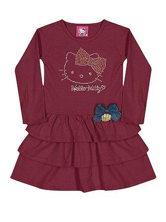 Vestido Strass Hello Kitty