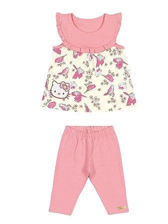 Conjunto Blusa e Calça Birds Hello Kitty