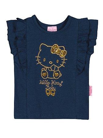 Blusa em Cotton Light Baby Hello Kitty