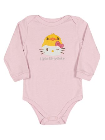 Body em Suedine manga longa Duck Hello Kitty