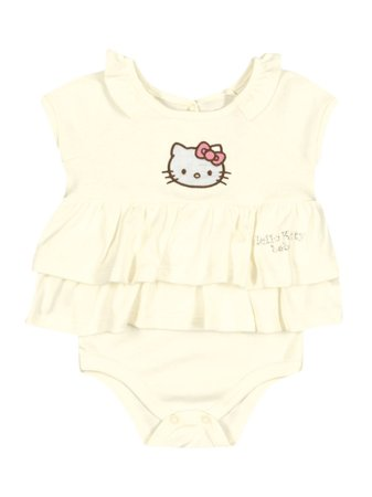 Body Vestido Creme Baby Hello Kitty