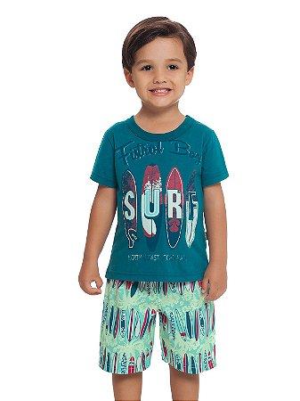 Conjunto Camiseta e Bermuda Surf Loopy de Loop