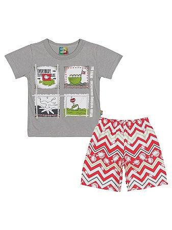 Conjunto Camiseta e Bermuda Whale Loopy de Loop