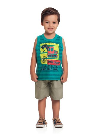 Conjunto Regata e Bermuda Little Digger Loopy de Loop
