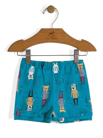 Short Vintage Dogs Azul Up Baby