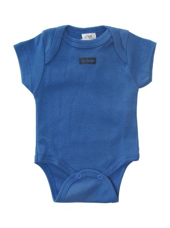 Body Básico Azul Escuro Manga Curta Up Baby