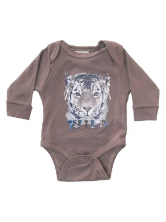Body Tigre Manga Longa Up Baby
