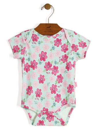 Body Manga Curta Shine Floral Up Baby