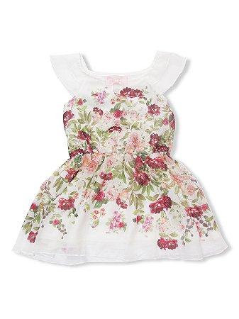 Vestido Chiffon Floral Charpey