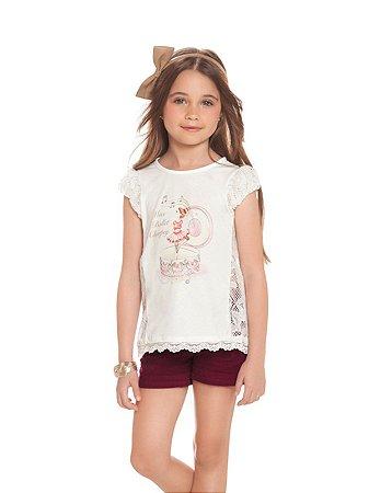 Conjunto Blusa e Shorts Bailarina Charpey