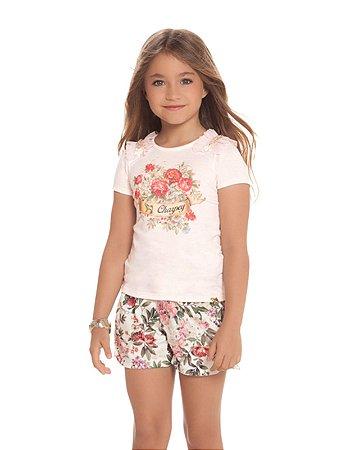 Conjunto Blusa e Shorts Floral Charpey