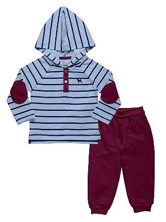 Conjunto Camiseta Listras e Calça Charpey