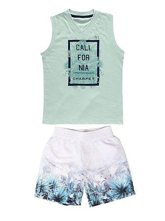 Conjunto Camiseta e Regata California Charpey