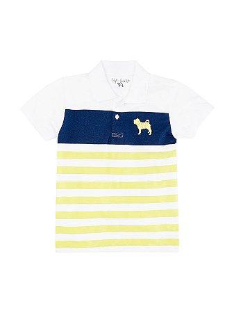 Camisa Polo Listras Manga Curta Charpey