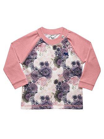 Blusa em Cotton Light Manga Longa Floral Charpey