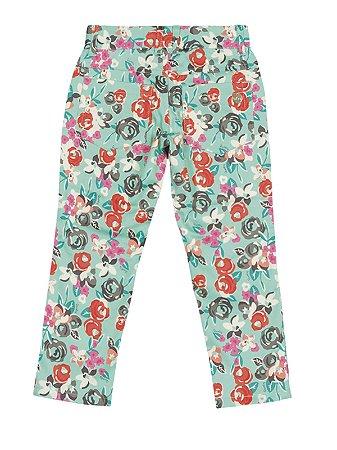 Calça em Sarja Floral Quimby