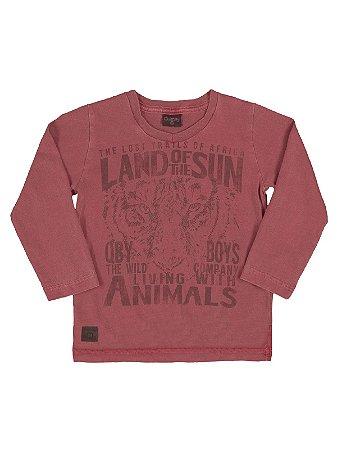 Camiseta Land of the Sun em Meia Malha Manga Longa Quimby