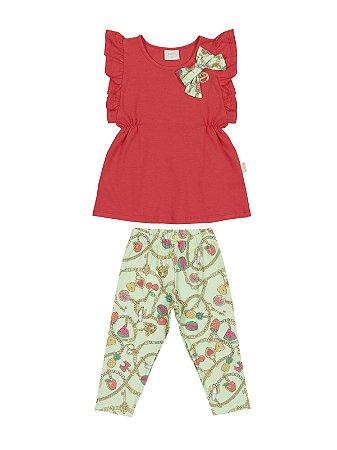Conjunto Blusa e Legging em Cotton Quimby