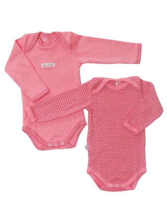 Conjunto 2 Bodies Manga Longa Rosa Be Little