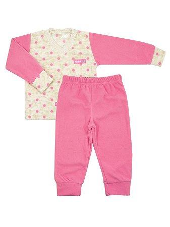 Pijama em Micro Soft Droideka Pink Be Little