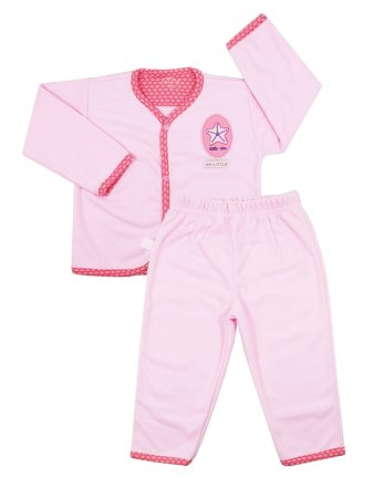 Pijama em Micro Soft Mafille Rosa Be Little