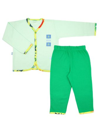 Pijama Diving Verde em Algodão Be Little
