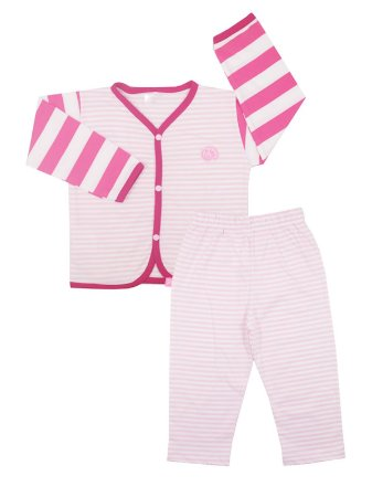 Pijama em Meia Malha Have Fun Rosa Be Little