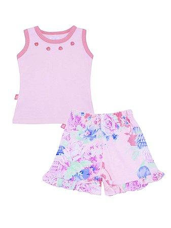 Pijama Regata e Shorts Fresh Summer Be Little