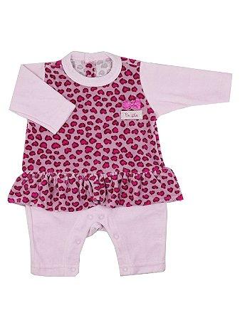 Macacão em Plush Gatinha Rosa Be Little