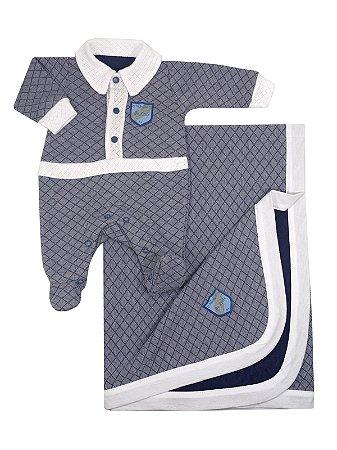 Saída de Maternidade Handsome Azul Marinho Be Little