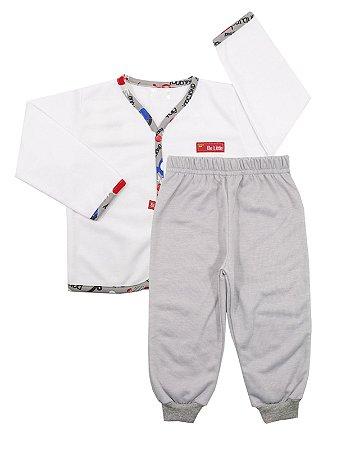 Pijama Pluminha Wessel Cinza Be Little