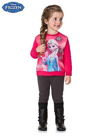 Conjunto Elza Frozen Blusão em Moletom e Legging Maxi Cotton Brandili