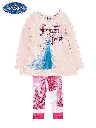 Conjunto Blusa e Legging em Cotton Frozen Brandili