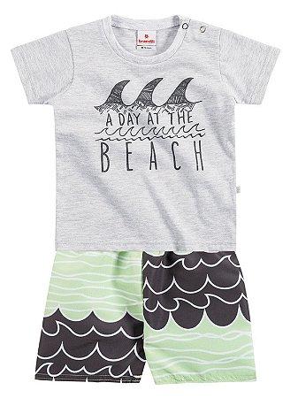 Conjunto Camiseta em Malha e Bermuda Microfibra The Beach Brandili