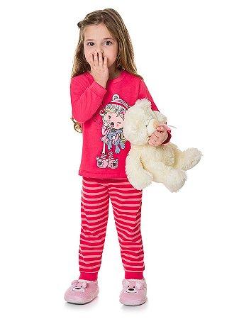 Pijama Blusão e Calça em Moletinho Que Soninho Brandili