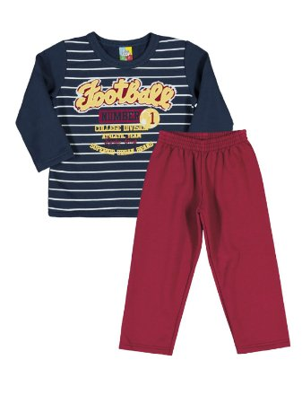 Conjunto Casaco e Calça Moletom Football Bee Loop