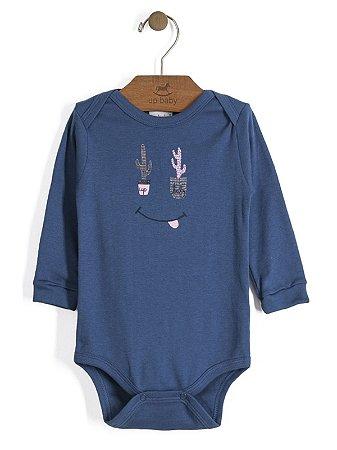 Body em Suedine Manga Longa Cactus Azul Up Baby