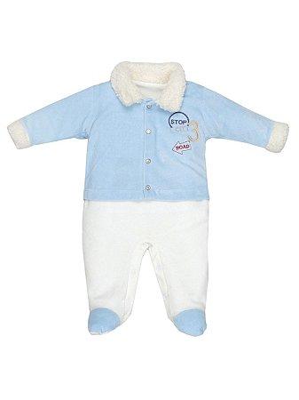 Macacão em Plush Stop Bebê Menino Sonho Meu