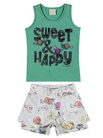 Conjunto Quimby Menina Curto Sweet Verde