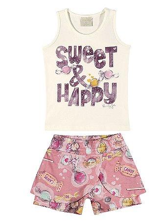 Conjunto Quimby Menina Curto Sweet Natural
