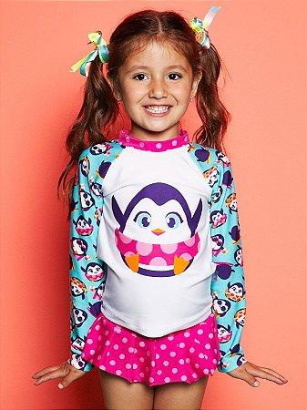 Camiseta FPS 50 Infantil Pinguim Puket - Baboobee - Roupas para ... f82cf624c78