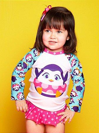 Camiseta FPS 50 Bebê Pinguim Puket