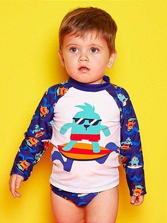Camiseta FPS 50 Bebê Monstro Surf Puket