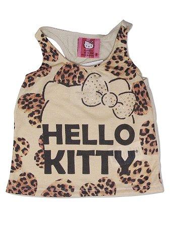 Blusa em Malha sem manga oncinha Hello Kitty