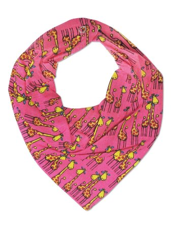 Babador Bandana Petit&Co Girafinhas Pink