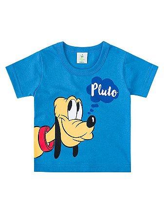 Camiseta Brandili Curta Pluto Azul