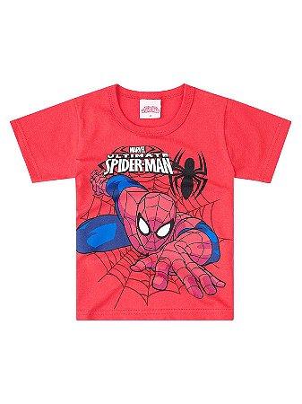 Camiseta Brandili Curta Homem Aranha Vermelha