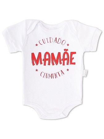 Body Divertido para Bebê Sonho Meu Mamãe Ciumenta Branco
